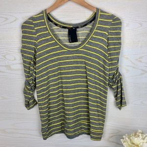 {DOLAN} T-Shirt Ruched Sleeves Super Soft Cozy Top